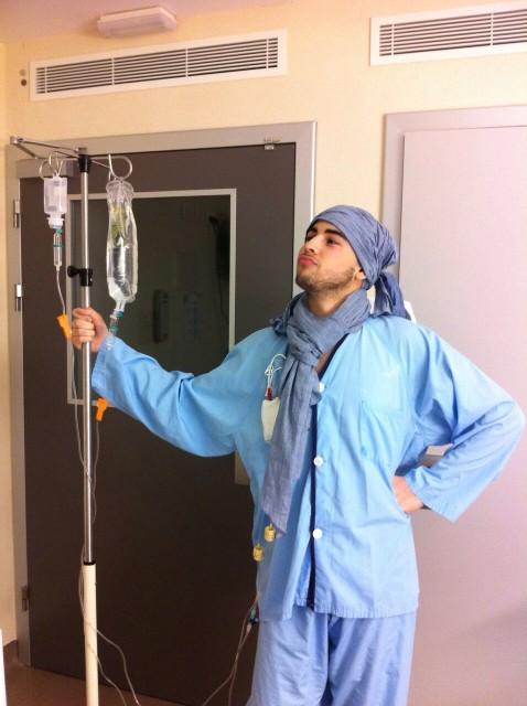 Jorge Ribera en el hospital